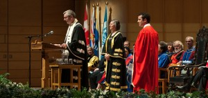 Mr. Rick Mercer received an honorary degree at Spring Congregation (photo by Martin Dee)