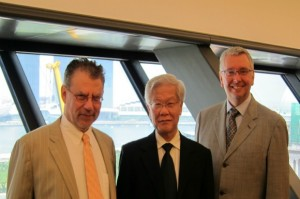Prof. Weiler, Cheif Justice Chan & Prof. Toope at the Supreme Court of Singapore