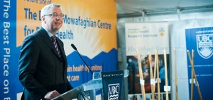 Prof. Toope at the groundbreaking for the Djavad Mowafaghian Centre for Brain Health (photo Martin Dee)
