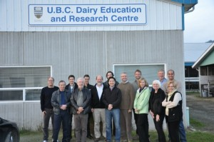 Executive Team Visits UBC Dairy Centre