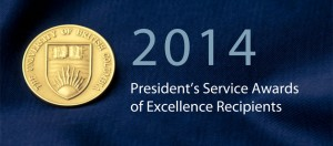 President's Service Awards for Excellence 2014 Winners