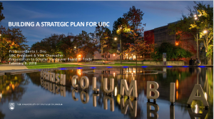 Inspire: Building a Strategic Plan for UBC
