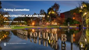 Thriving Communities: UBC's Strategic Plan and You